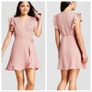 Eclair • Blush Wrap Dress